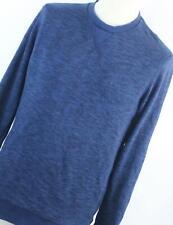 NYC Blue Cotton Blend Mens Sweatshirt Size L