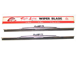 2 NOS TRICO 12 inch WIPER BLADES 49 50 51 52 DeSoto PAIR 1949 1950 1951 1952