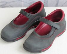EU-36 US-6 | Dansko Women Gray Nubuck Leather Mary Jane Flat Clog Duty Work Shoe