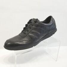 Rockport Mens Dougland County Lace Up Moc Front Black Casual Sneaker Adiprene 10