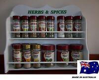 Spice Rack 13 to 22 jar HERB & SPICE IN White New Design ( made in OZ )