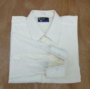 Vintage Bri Nylon ROCHESTER Ivory Evening Dress Shirt Men's Collar 16