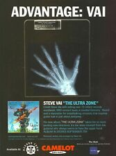 Steve Vai The Ultra Zone 1999 8x11 Promo Poster Ad