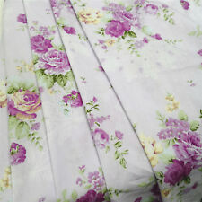 Vintage 100% Cotton Twill Floral Printed Fabric Soft Quilting Sewing Crafts Yard