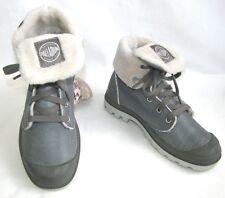 PALLADIUM Chaussures montants lacets cuir gris fourrées 36 EXCELLENT ETAT