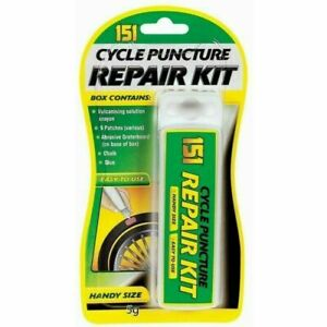 Cycle Bike Puncture Repair Kit Patches Chalk Glue Abrasive Bicycle Tyre Tube Fix