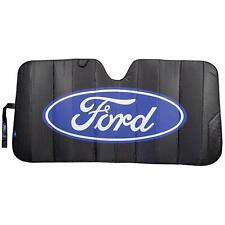 BLACK MATTE Car Truck Universal Front Windshield Accordion Sun Shade for Ford