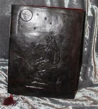 MOON GAZING HARE LARGE LEATHER BOUND JOURNAL/BOOK OF SHADOWS ~ HAND MADE PAPER
