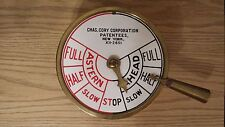WW2 Era CHAS. CORY CORPORATION ENGINE ORDER TELEGRAPH ~Tugboat, Yacht