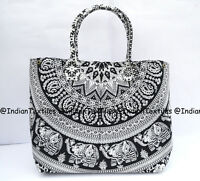 Indian Mandala Tote Bag  Cotton Women Satchel Purse Lady Shoulder Handbag New