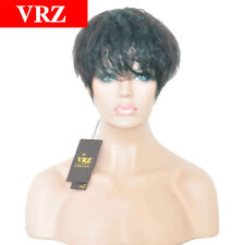 Short Wave Brazilian Human Hair Wigs Natural Color None Lace Wig for Black Women