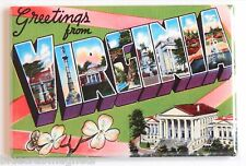 Greetings from Virginia FRIDGE MAGNET (2.5 x 3.5 inches) state travel souvenir
