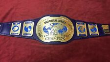 WWF IC OVAL BLOCK LOGO BELT IN 4MM ZINC DEEP ETCHING 24KT GOLD PLATED FREE SHIP