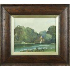 Mapledurham Mill Signed Impressionist Landscape Watercolour Painting 1900-1949