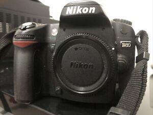 Nikon D D80 10.2MP Digital SLR Camera - Black (Body only) Spares & Repair