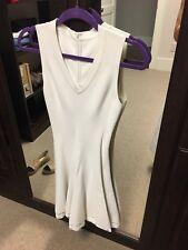 ALAÏA  White Sleeveless Laser Cut A-Line Dress Size 38