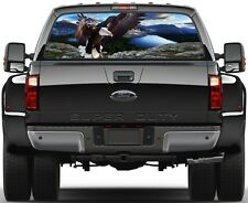 Mountains & Lakes Eagle  Rear Window Graphic Decal Sticker Tint Truck SUV