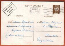 1942 - Entier Postal - Type Petain - 80c - Cachet Paris - Complement de Taxe