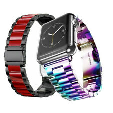 New Colors For Apple Watch Series 5 4 3 2 Stainless Steel Strap Wrist Band iWatc