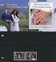 Isle of Man IOM 2018 MNH Prince Harry & Meghan 2v Set Pres Pack Royalty Stamps