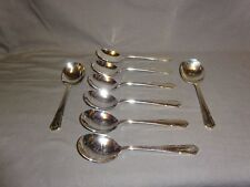 Attractive Silver Plated Viners Dubarry Pattern - Soup Spoons x 8 - 17.6cm