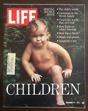 """Life Magazine ~ December 1971 ~ Special Issue ~ """"CHILDREN"""" ~ Awesome Kid Photos"""