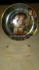 M.J. Hummel Little Companions Collectibles Plate - Stormy Weather