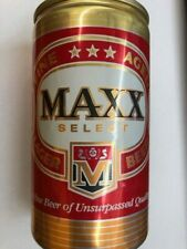 Maxx Select empty beer can, pop tab top, 12 oz