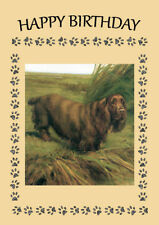 SUSSEX SPANIEL GREAT DOG  BIRTHDAY GREETINGS NOTE CARD