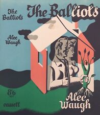 "Eric Fraser 1936 Dust Jacket Lithograph Design for Alec Waugh's ""The Balliols"""