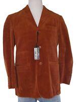 conbipel giacca blazer uomo velluto coste arancione scuro taglia it48  medium m 86acba48861