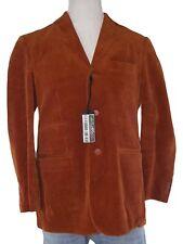 conbipel giacca blazer uomo velluto coste arancione scuro taglia it48 medium m