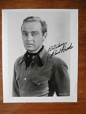 B Western Actor Rand Brooks Signed Photo as Lucky From Hopalong Cassidy Movies