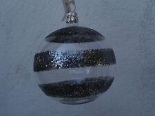 Palla di Natale in vetro decorata albero addobbo festone palle vintage