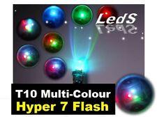 LED T10 W5W RGB Multi-Colour Side Wedge Park Light Bulb Blue Purple Green Red