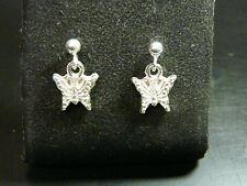 pendientes en forma MARIPOSA plata 925 mariposa earrings plata de ley