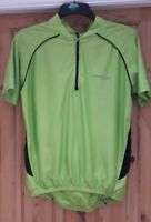 Muddyfox Mens Size M Green Short Sleeve Cycling Bike Quarter Zip Top !!