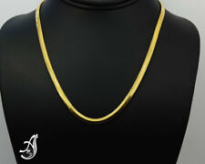 Sterling Silver Chain, 14 k Gold Plated ,4 mm wide Omega chain , 18 inches,