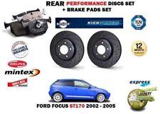 Für Ford Focus ST170 2.0 2002-2004 Heck Performance Set Bremsscheiben+Beläge Set