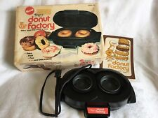 Vintage Dazey Donut Factory Maker DF2 Bagel Baker w Recipe Book and Box Tested