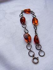 Amber Bernstein Bracelet Bracelet Barcelet Ambre Nature Ambre Argent Nº 61