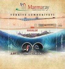 TURKEY 2013 MARMARAY WAS ONCE A DREAM NOWITS REALITY METRO TUNNEL BOSPHOROUS MNH