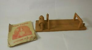 Vtg 1940's Apache Beadwork Loom Patented w/ Apache Beadwork Instructions Book