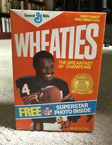 Walter Payton 1987 Wheaties Cereal Box Chicago Bears