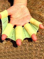 Silicone Swimming Finger Gloves Webbed Hand Fins Flippers Frog Palm Swim Paddle