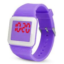 Electronic Digital LED Silicone Watches Wristwatch Bracelet For Children Kids