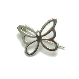 Schlichter Sterling Silber Brosche Schmetterling Original Solid gestempelt 925 Nickel frei