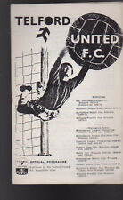 Telford United FC v Margate Program October 2 1971
