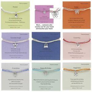 Equilibrium Double Message Friendship Bracelet Various Designs Platinum Plated