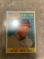 St. Louis Cardinals 1958 Topps Baseball Card Stan Musial 58 All Star